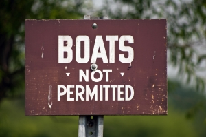 Boats Not Permitted